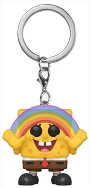 Spongebob SquarePants - Spongebob with Rainbow US Exclusive Pocket Pop! Keychain [RS] | Pop Vinyl