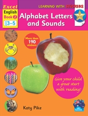 English Book 2 - Alphabet Letters and Sounds Learning with Stickers | Paperback Book
