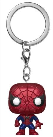 Spider-Man - Spider-Man Metallic US Exclusive Pocket Pop! Keychain [RS] | Pop Vinyl