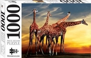 Giraffes Open Air Zoo France 1000 Piece Puzzle | Merchandise
