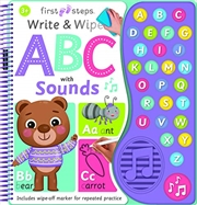 First Steps Write And Wipe Abc With Sounds (board Books) | Books