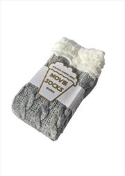 Grey Plait Knot Movie Socks | Apparel