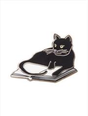 Bookstore Cat Enamel Pin | Merchandise