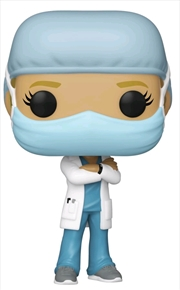 Pop! Heroes – Front Line Worker – Female #1 (Blue) Pop! Vinyl | Pop Vinyl