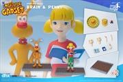 Inspector Gadget - Brain & Penny 1:12 Scale Action Figure | Merchandise