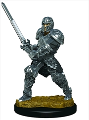 Dungeons & Dragons - Icons of the Realms Male Human Fighter Premium Miniature | Games