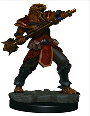 Dungeons & Dragons - Icons of the Realms Male Dragonborn Fighter Premium Miniature | Games