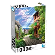 Puzzlers World - Artistic Puzzles Village Path - 1000-Piece Jigsaw Puzzle | Merchandise