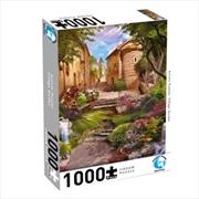 Puzzlers World - Artistic Puzzles Village Garden - 1000 Piece Jigsaw Puzzle | Merchandise
