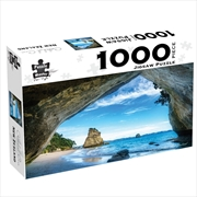 Cathedral Cove New Zealand 1000 Piece Jigsaw Puzzle | Merchandise