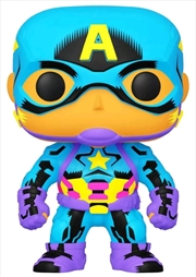 Captain America - Captain America Black Light US Exclusive Pop! Vinyl [RS] | Pop Vinyl