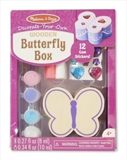 Wooden Butterfly Box | Books