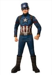 Kids Avengers: Endgame Deluxe Captain America Costume: 3-4 | Apparel