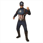 Adult Avengers: Endgame Deluxe Captain America Costume: Std | Apparel
