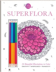 Zen Color: Superflora | Colouring Book