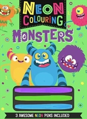 Neon Colouring Monsters | Colouring Book