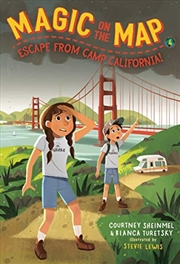 Magic On The Map #4: Escape From Camp California | Paperback Book