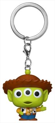 Pixar - Alien Remix Woody Pocket Pop! Keychain | Pop Vinyl