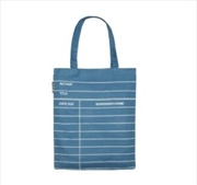 Library Card: Blue Tote Bag   Apparel