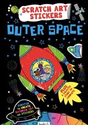 Outer Space : Scratch Art Stickers | Books