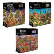 Vivid Views Series Assorted - Crown 1000 Piece Puzzle (SELECTED AT RANDOM) | Merchandise