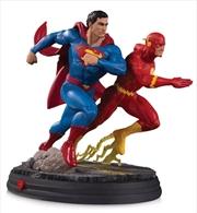 DC Comics - Superman vs Flash Racing 2nd Edition Gallery Statue | Merchandise