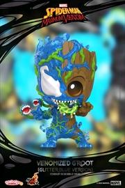 Venom - Venomized Groot Blue Glitter Cosbaby | Merchandise