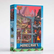 Minecraft World Red 1000 Piece Puzzle | Merchandise
