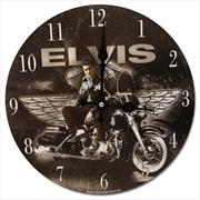 Elvis Clock Motorcycle W/Wings | Accessories