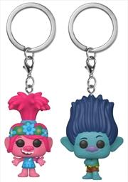 Trolls World Tour - Poppy & Branch US Exclusive Pocket Pop! Keychain 2-pack [RS] | Merchandise