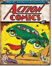 Action Comics Tin Sign | Merchandise