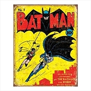 Batman No1 Cover Tin Sign | Merchandise