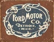 Ford Historic Logo Tin Sign | Merchandise