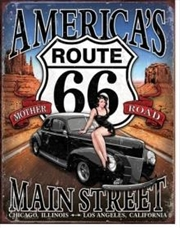 RT 66 - America's Main Street Tin Sign | Merchandise