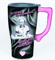 Lucy Chocolate Ceramic Travel Mug | Merchandise