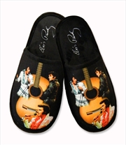 Elvis Slippers Guitar 3 Images | Apparel
