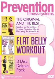 Prevention Fitness - Express Flat Belly / Flatten Your Belly with Pilates / Walk off Your Belly | DVD