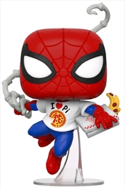 Spider-Man - Spider-Man with Pi Shirt US Exclusive Pop! Vinyl [RS] | Pop Vinyl