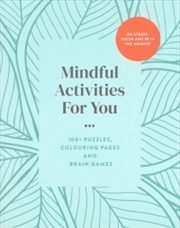 Mindful Activities For You | Paperback Book
