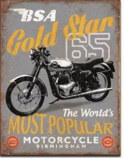 BSA - '65 Gold Star Tin Sign | Merchandise