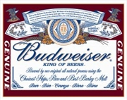 Budweiser Label Tin Sign | Merchandise