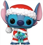 Lilo & Stitch - Santa Stitch with Scrump US Exclusive Pop! Vinyl [RS] | Pop Vinyl