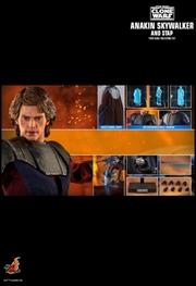 "Star Wars: Clone Wars - Anakin & STAP 1:6 Scale 12"" Action Figure Set | Merchandise"