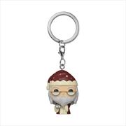 Harry Potter - Dumbledore Holiday Pocket Pop! Keychain | Pop Vinyl