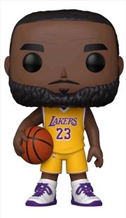 """NBA: Lakers - LeBron James Yellow Jersey US Exclusive 10"""" Pop! Vinyl [RS]   Pop Vinyl"""