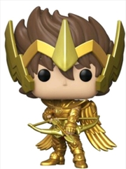 Saint Seiya - Seiya with Armor Gold US Exclusive Pop! Vinyl [RS] | Pop Vinyl