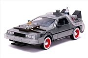 Back to the Future 3 - Time Machine Raw Metal 1:24 Scale Hollywood Ride | Merchandise