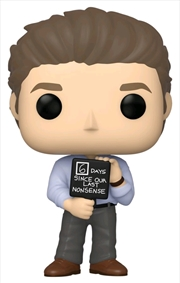 The Office - Jim with Nonsense Sign Pop! Vinyl | Pop Vinyl
