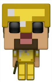 Minecraft - Steve with Gold Armor & Axe US Exclusive Pop! Vinyl [RS] | Pop Vinyl