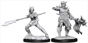 Magic the Gathering - Unpainted Miniatures: Coralhelm Commander & Halimar Wavewatch | Games